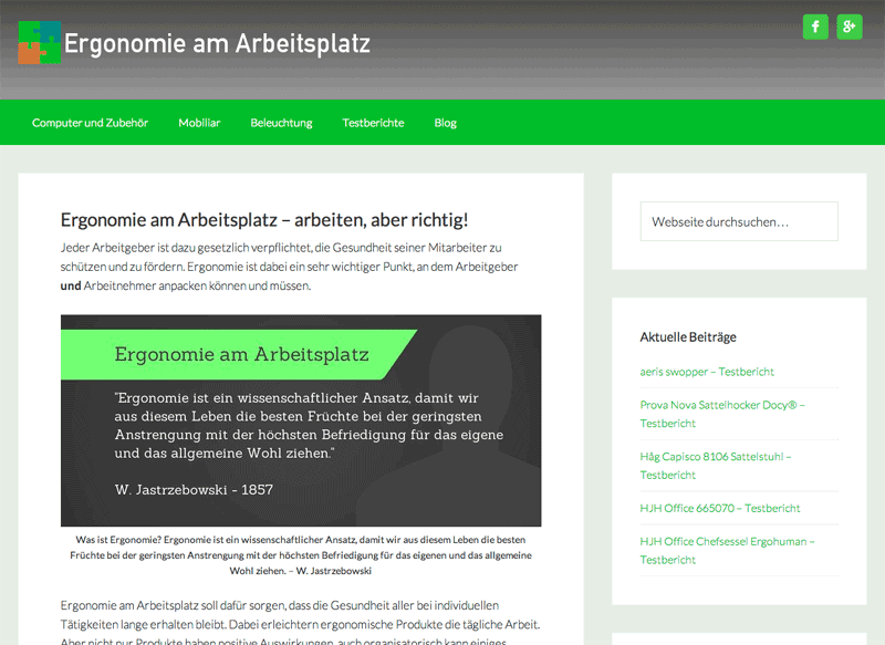 Ergonomie-am-Arbeisplatz.de Screenshot