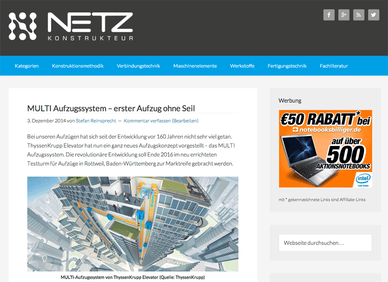 Netzkonstrukteur.de - Screenshot