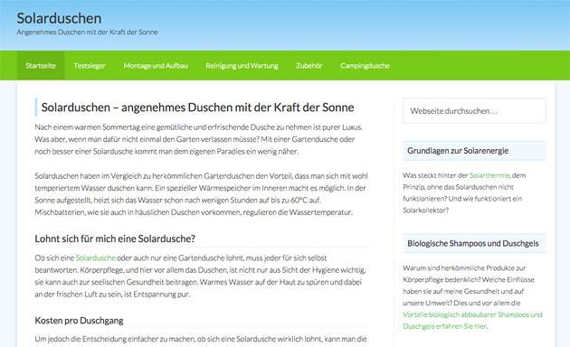 Screenshot Solarduschen.net - März 2015