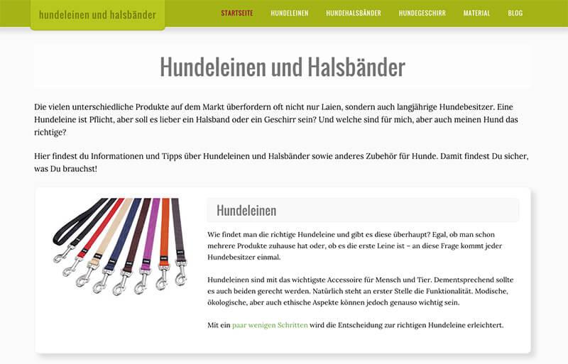 Hundeleinen-und-Halsbaender.de - Screenshot
